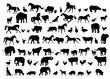 Animals & Birds Silhouette set - vector