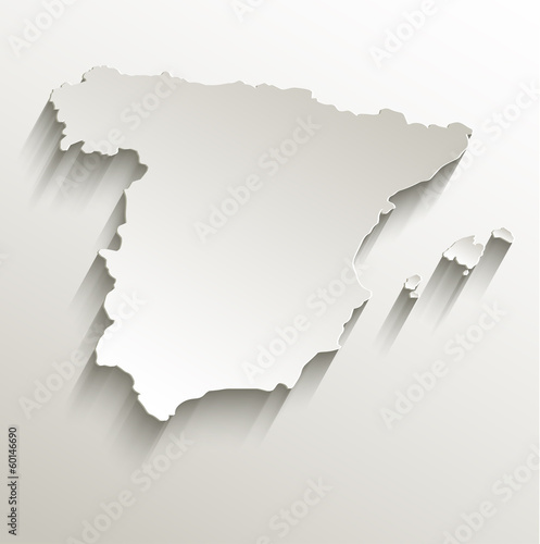 Fotomural Spain map card paper 3D natural