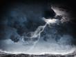 Leinwandbild Motiv Storm at night