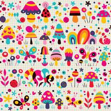 Mushrooms, Butterflies & Snail...