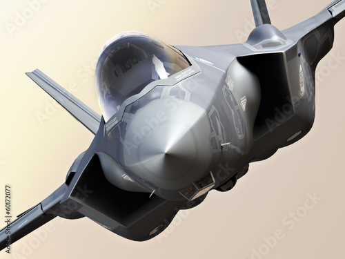 Obraz na plátne  F35-A lightning closeup
