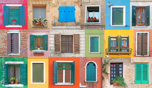 Italian windows Fotobehang