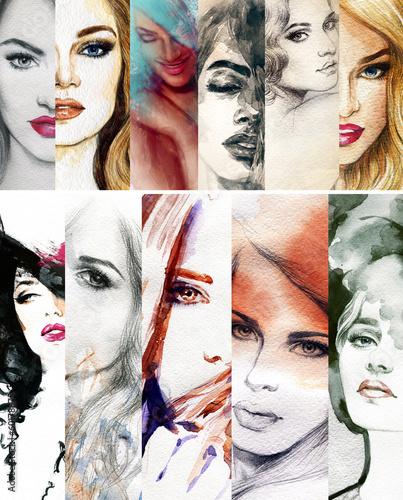 piekna-twarz-kobiety-akwarela-ilustracja