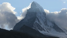 Time Lapse Of Air Vortices North Face Matterhorn, Zermatt