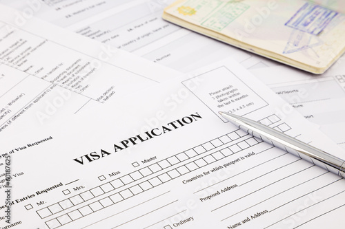 visa application Tablou Canvas