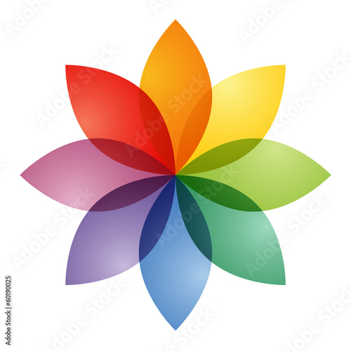Color Wheel Flower Buy This Stock Illustration And Explore Similar