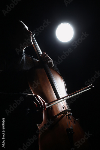 Leinwand Poster Cello classical music cellist player