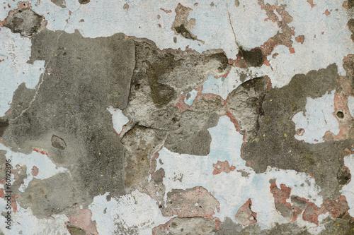Foto auf AluDibond Alte schmutzig texturierte wand Destruction of concrete wall abstract background