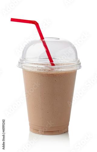 Deurstickers Milkshake Chocolate milkshake