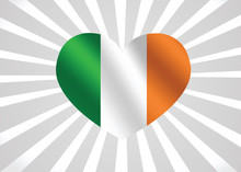 National Flag Of Ireland Theme...