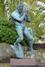 Man Praying Sculpture In Millesgarden Sculpture Garden