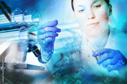 Fotografija  Test tubes closeup,medical glassware