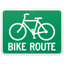 Bicycle Route Sign