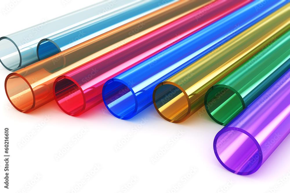 Fototapeta Color acrylic plastic tubes