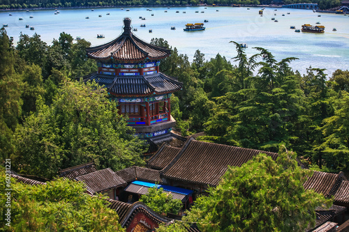 Stickers pour porte Pékin Aerial View of Beautiful Summer Palace
