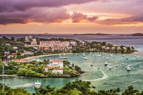 Foto op Plexiglas Caraïben Cruz Bay, St John, US Virgin Islands