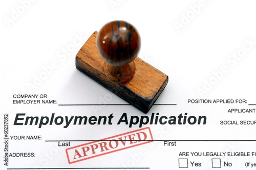 Spoed Foto op Canvas Canada Employment application - approved