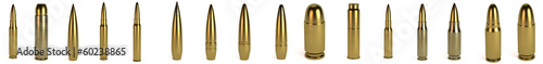Carta da parati realistic 3d render of bullets