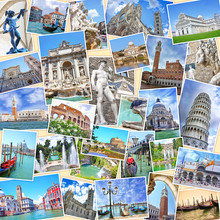 Stack Of Travel Images From Italy (my Photos). Famous Landmarks