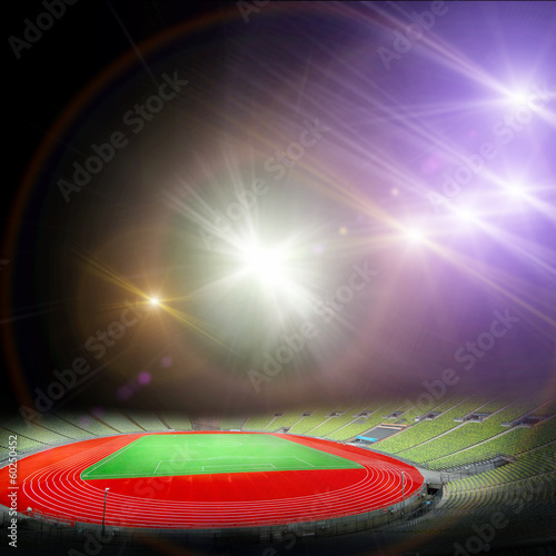 Photo  soccer stadium with the bright lights