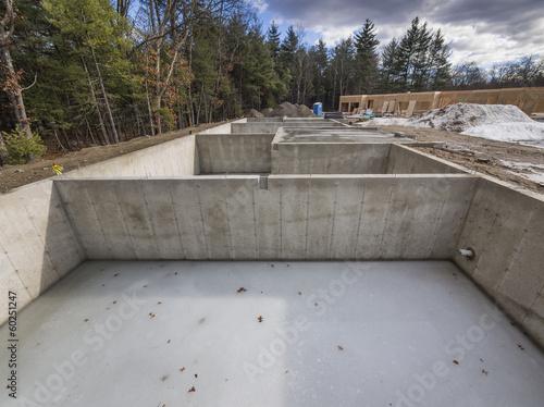 Fotografía  Concrete foundation for new houses