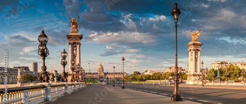 Montage in der Fensternische Paris Pont Alexandre III & Hotel des Invalides, Paris