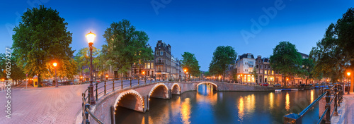 Obraz na plátně  Reflections of Amsterdam, Holland