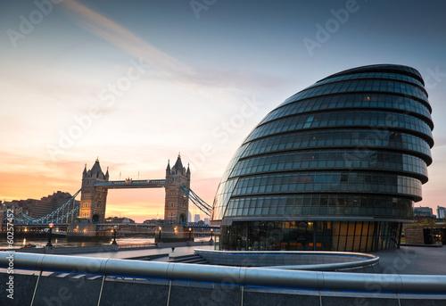 Stampa su Tela Tower Bridge & City Hall, London