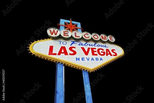 Leinwand Poster  Vegas Sign Isolated