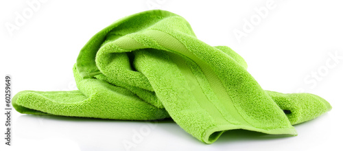 Vászonkép Colorful towel isolated on white