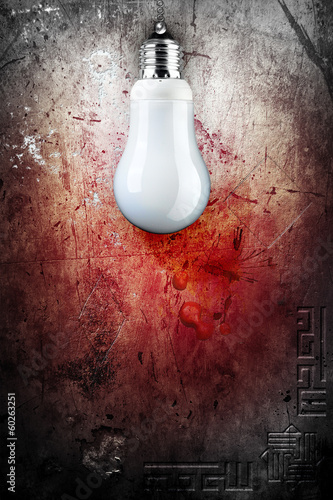 Background with old wall and BULB © Rosario Rizzo