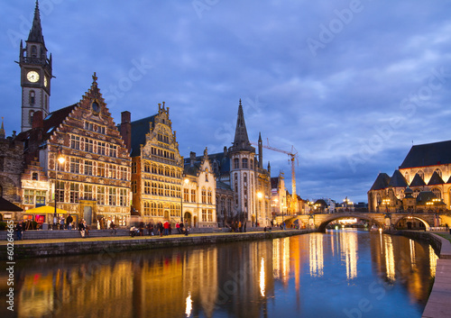 Fototapety, obrazy: Old Buildings With Canal, Ghent