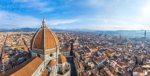 Photo Stands Florence Cathedral Santa Maria del Fiore in Florence, Italy