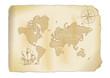 alte antike Weltkarte