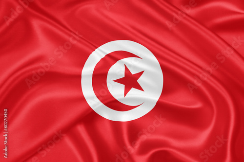 Fotobehang Tunesië flag of Tunisia