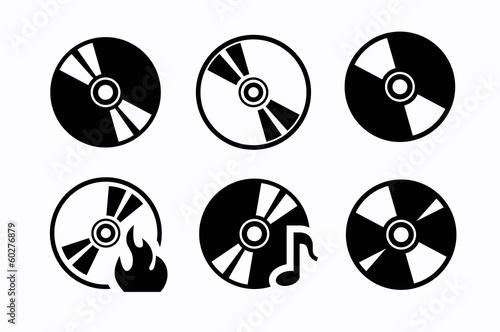Obraz CD icons - fototapety do salonu