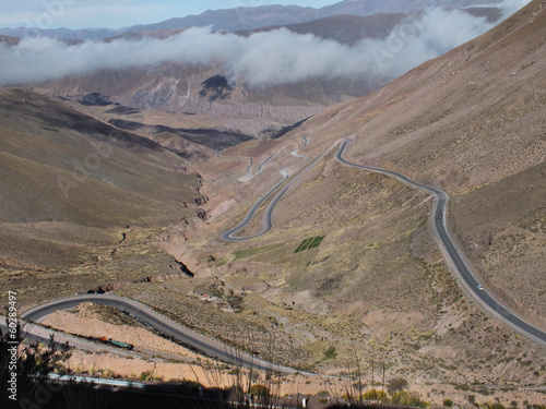 Poster  Hairpin bends leading up the Cuesta del Lipán