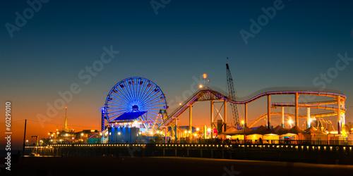 Garden Poster Amusement Park Santa Monica Pier