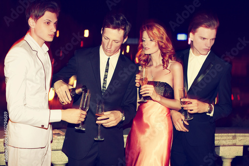 Photo sur Aluminium Las Vegas Casino night. Anna and the boys