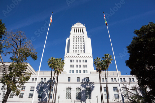 Foto op Plexiglas Los Angeles Los Angeles, California City Hall in Downtown LA.