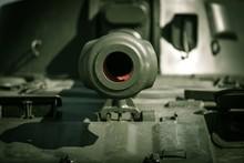 Closeup Of A Tank Outdoors