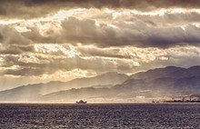 Ship In The Strait Of Messina....
