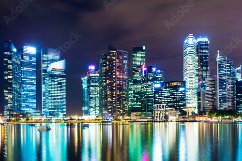 Singapore at night Poster