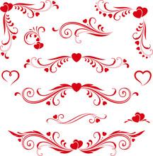 Heart-scroll-set