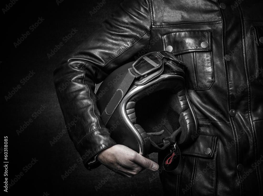 Fototapeta Equipement de sécurité motard