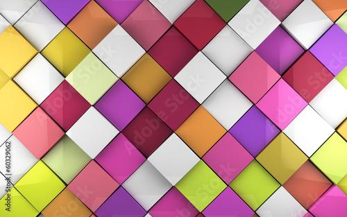 Fondo 3d cubos de colores