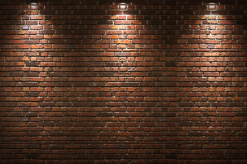 Fototapeta Architektura Illuminated brick wall