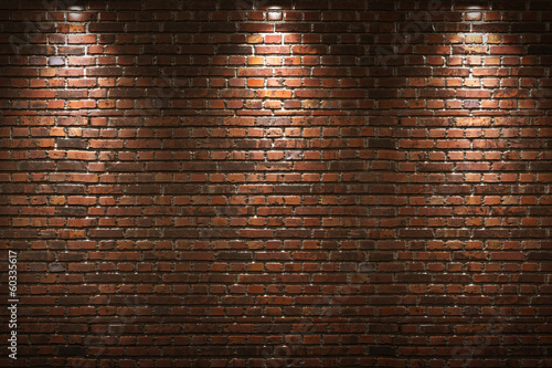 Illuminated brick wall #60335617