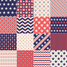 Seamless Stars Independence Day Background