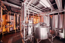 Brewing Equipment At Microbrew...